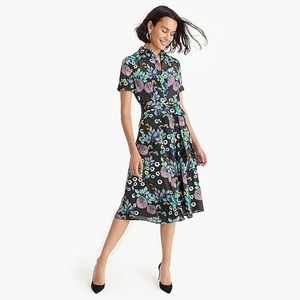 J. CREW ABIGAIL BORG Prairie Moonlight Midi Dress